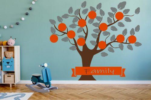 11 képes narancs csaladfa falmatrica 1