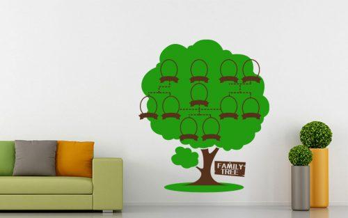 11 képes családfa falmatrica táblával 5