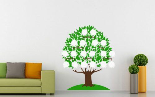 18 képes családfa falmatrica táblával 5