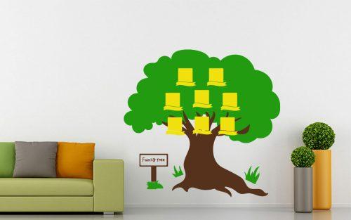 8 képes családfa falmatrica táblával 5