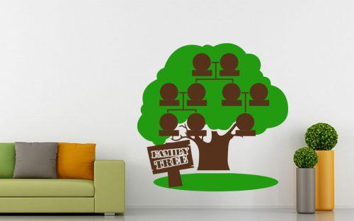 9 képes családfa falmatrica táblával 5