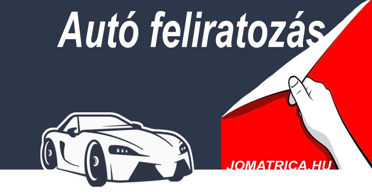 Autó felirat
