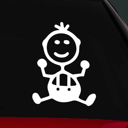 Baba fiú családi autó matrica