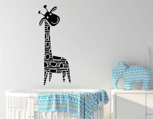 babaszoba falmatrica állatos zsiráf 5