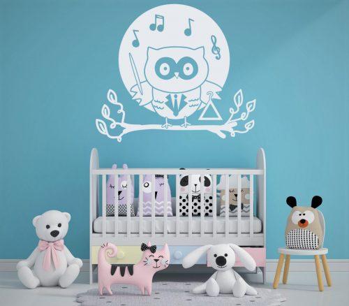 babaszoba falmatrica zenélő bagoly 5