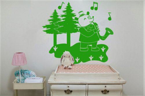 babaszoba falmatrica zenélő macis 2