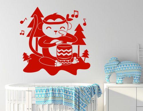 babaszoba falmatrica zenélő majmos 3