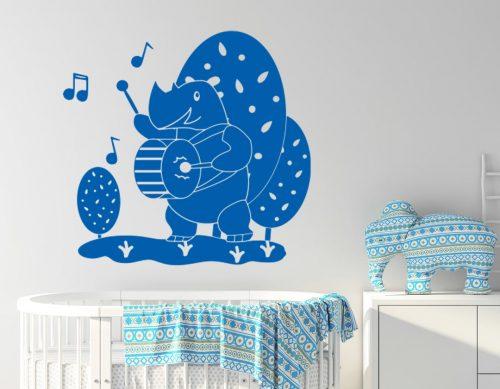 babaszoba falmatrica zenélő viziló 3