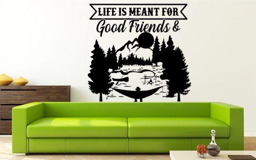 barátok és kaland hegy falmatrica 4