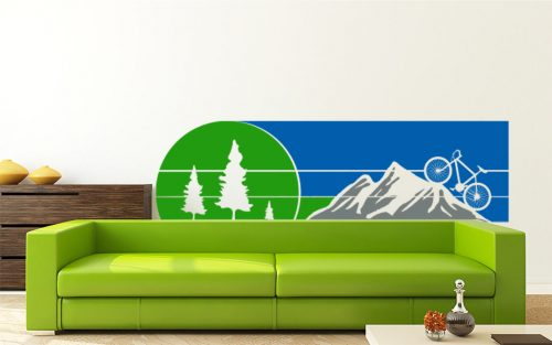 biciklis erdő hegy falmatrica 4