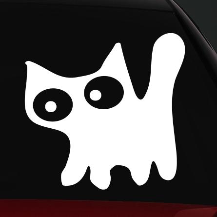 cicás autó matrica állatos vicces 4