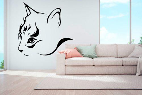 Cicás falmatrica macska fej 2