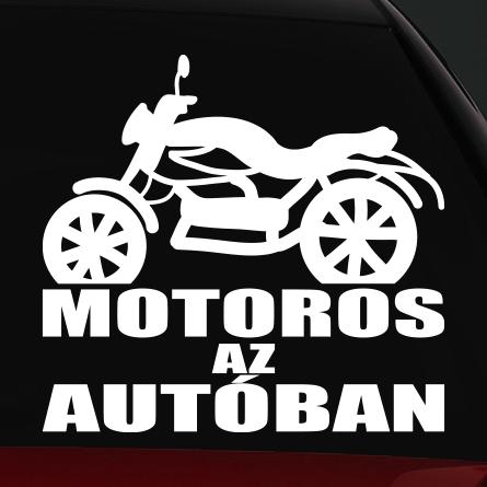 Classic motoros az autóban matrica