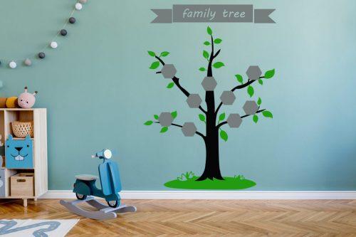 családfa falmatrica 9 képes színes 1