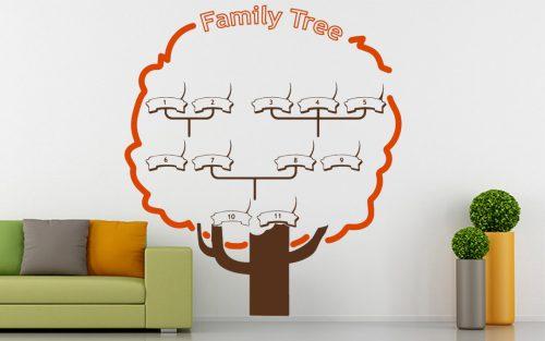családfa falmatrica választható neves 1