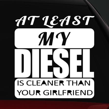 diesel autó matrica at least
