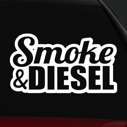diesel autó matrica smoke
