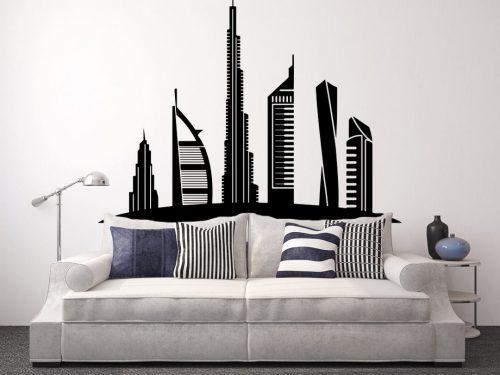 dubai város falmatrica 3