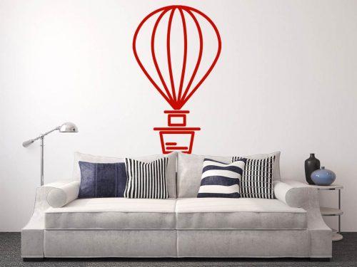 egyszerű nagyszerű hőlégballonos falmatrica 3 2