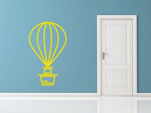 egyszerű nagyszerű hőlégballonos falmatrica 3 5