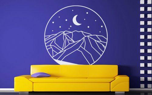 éjjeli kép hegy falmatrica 5