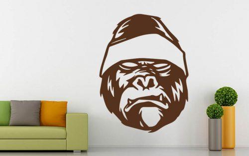 erdei állatok falmatrica harcos gorillás 2