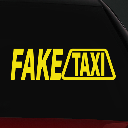 fake taxi autó matrica