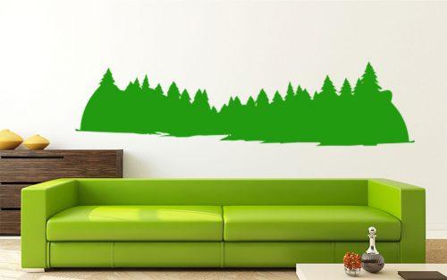 fenyő erdő falmatrica 5