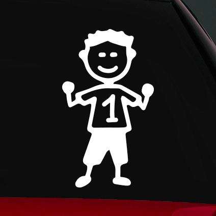 Jófej fiú családi autó matrica