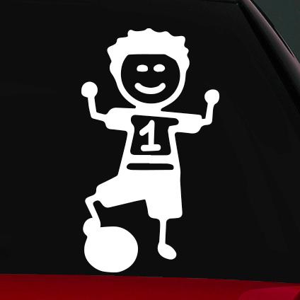 Focis fiú családi autó matrica