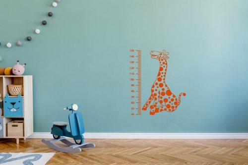 gyerekszoba falmatrica magasságmérő zsiráfos 1