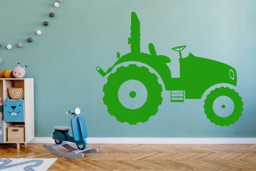 gyerekszoba falmatrica munkagépes traktor 2 5
