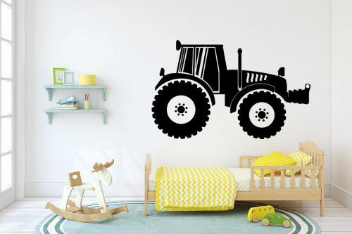 gyerekszoba falmatrica munkagépes traktor 4