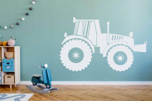 gyerekszoba falmatrica munkagépes traktor 5