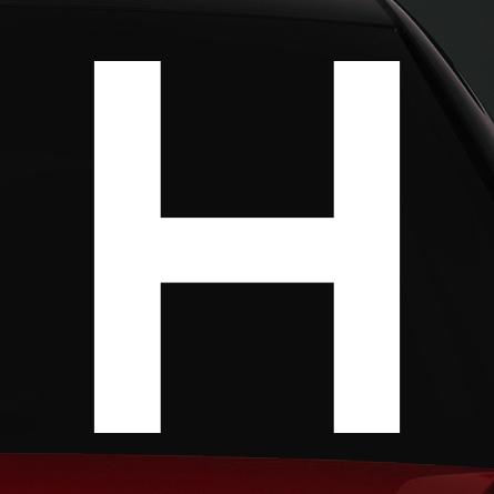 H jelölés rally matrica