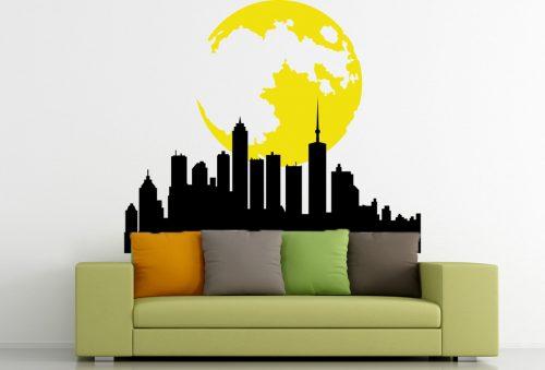 hold fényű ismeretlen város falmatrica 1