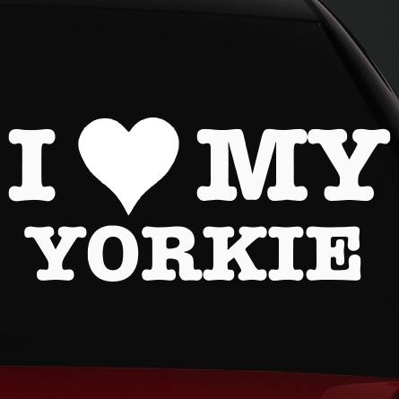 I love my yorkie kutyás autó matrica