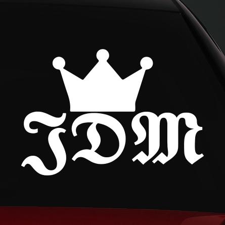 JDM autó matrica king