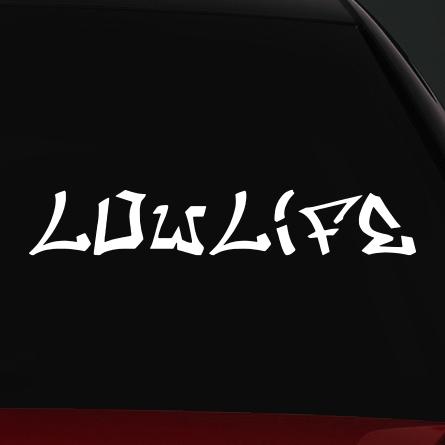 JDM autó matrica lowlife