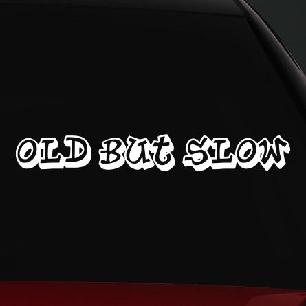JDM autó matrica old but slow
