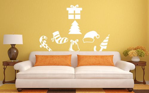 karácsonyi falmatrica díszes 2