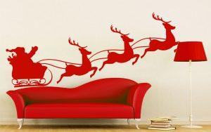 karácsonyi falmatrica mikulás szánon 3