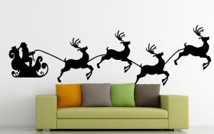 karácsonyi falmatrica mikulás szánon 2 1