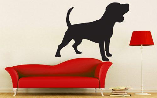 kutyás falmatrica állatos beagle 1
