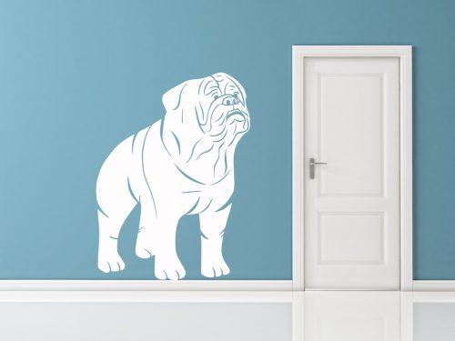 kutyás falmatrica állatos angol bulldog 5