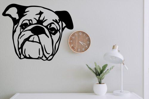 kutyás falmatrica állatos bulldog fej 5