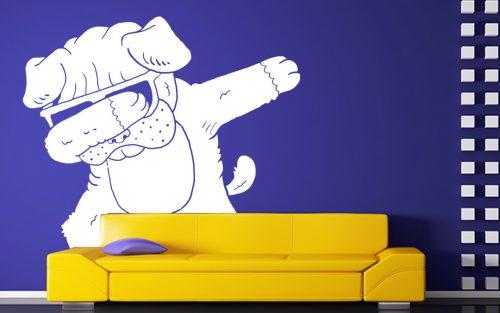 kutyás falmatrica állatos cuki bulldog 4