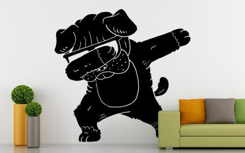 kutyás falmatrica állatos cuki bulldog 5