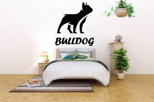 kutyás falmatrica állatos francia bulldog 1
