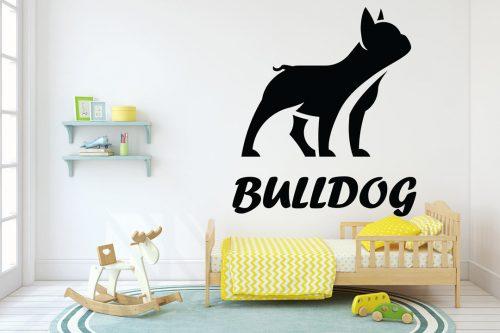 kutyás falmatrica állatos francia bulldog 5